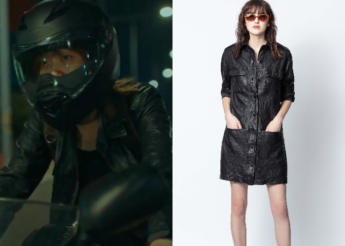 Zadig-Voltaire-Rexy-crinkle-leather-dress