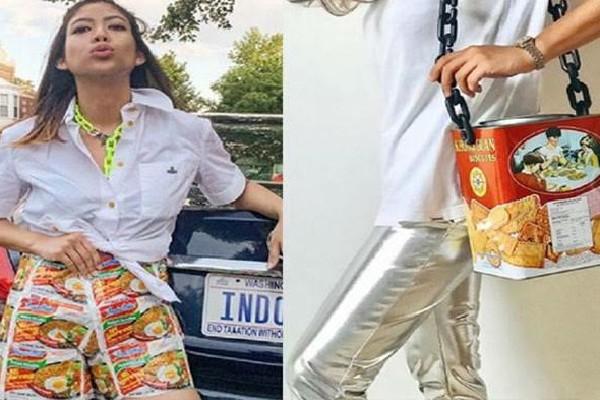 Unik, Bungkus Indomie Hingga Kaleng Biskuit Jadi Produk Fesyen