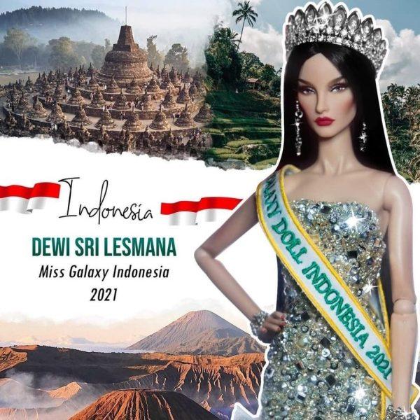 Dewi Sri Lesmana Bersiap di Final Miss Galaxy Doll 2021